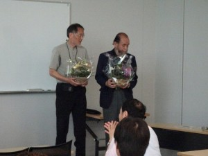 立花先生・吉村先生 「お疲れ様会」